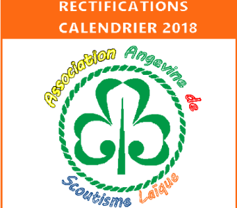Modifications du calendrier!